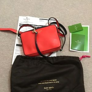Kate spade crossbody bag red navy with dust bag